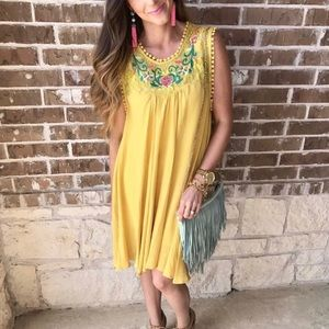 Yellow Flowy dress